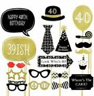 Happy 30/40/50th Birthday Party Props Photo Booth Selfie Frame Mask Moustache