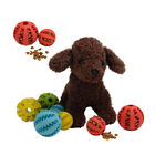 Rubber Puppy Dog Teething Chewing Toy Balls Treat Dispensing Bite Resistant
