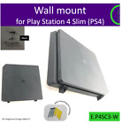 PlayStation 4 Slim (PS4 Slim) wall bracket mount holder. Made in the UK by us