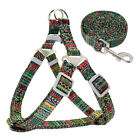 Unique Step-in Dog Harness and Matching Leash Nylon Vest for Small Medium Dogs