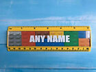 Personalised 15cm ruler - School Company Office - 6 colours - Any Name - Blocks
