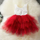 Lace Princess Girls Summer Dress Tutu Birthday Party Dresses Children Clothing