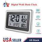 Large LCD Digital Desk & Wall Clock With Date Indoor Temperature 7 language Home