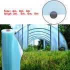 Greenhouse Polythene Cover Clear Film Sheeting Blue For Vegetables Fruit New