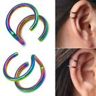 Fashion Stainless Steel 20 Gauge Ear Cuff Non Piercing Clip Fake On Earring U5u1