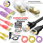 RJ45 Ethernet Network Flat Cable CAT7 SSTP 10 Gbps Patch Lead Cat7 1m to 20m UK