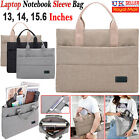 """13"""" 14"""" 15.6""""inch Laptop Hand Case Sleeve Bag For Dell HP Sony Acer Asus Samsung"""