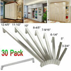 30set Square Pull Bar Handle Stainless Steel For Drawer Kitchen Cabinet Hardware