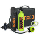 SMACO S400 Mini 1L Scuba Tank Diving Equipment Oxygen Cylinder Air Hand Pump USA