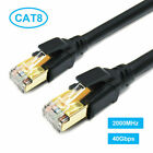 New Cat8 Flat Ethernet Cable Network Internet Cable For Laptop Modems Gaming USA