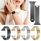 Stainless Steel Scale iWatch Link Wrist Band For Apple Watch Series 5 4 3 2 1 image