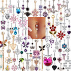 Belly Button Dangle Rings Crystal Jewelry Barbell Navel Ball Bar Body Piercing $1.22 USD on eBay