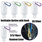 30/60ml Refillable Bottle With Hook Plastic Empty Bottles Container Travel.