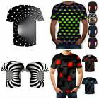 Funny Hypnosis 3D T-Shirt Women Men Colorful Print Casual Short Sleeve Tee Tops.