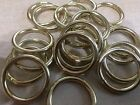 POLISHED BRASSED METAL CURTAIN RINGS ID 20mm OD 25mm FOR POLES UP TO 16mm