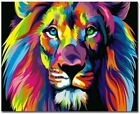 Oil Painting By Numbers Kit Craft DIY Paint On Canvas Frameless Animal Tiger New