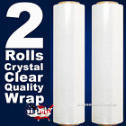 2 Rolls Crystal Clear Plastic Wrap Stretch Film Moving Shipping Packing 18' 20'