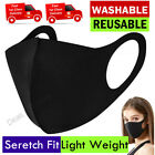Face Mask Breathable Unisex | Washable Reusable Protection Face Cover UK Black