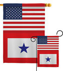 US Blue Star Garden Flag Armed Forces Service Decorative Gift Yard House Banner