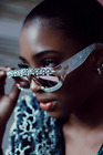 Vintage Diamond Oversized Sunglasses Sexy Women Luxury Rhinestone Crystal Frame