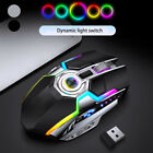 LED Wireless Gaming Mouse USB Ergonomic Optical For PC Laptop Rechargeable v