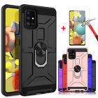 For Samsung Galaxy A51 5g,a71 5g Case Ring Kickstand , Tempered Glass Protector