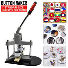 Badge Button Maker Machine Pin Punch Press 25/32/37/44/50/58mm w/ Circle Cutter