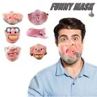 2 Pcs Halloween Horror Mask Half Face Latex Mask Party Mask Hot Funny Scary Toy