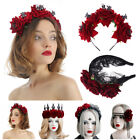 Party Costumes Wedding Garland Red Rose Crown Hair Wreath Halloween Headbands