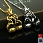 3d Stainless Steel Chain Boxing Glove Charm Pendant Necklace Punk Rock Jewelry