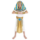 Boys Egyptian Pharaoh Costume M - XL Kids King of Egypt Fancy Dress Halloween
