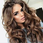 Fashion New Lady Girl Curly Brown Natural Synthetic Wavy Wigs Big Long Hair Wig