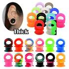 10-40pcs Thick Colorful Silicone Ear Gauge Kit Ear Tunnels Eyelets Stretcher Set