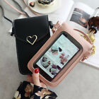 Touch Screen Cell Phone Purse Smartphone Wallet Leather Shoulder Strap Handbag O