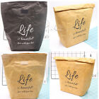 Paper Snack Insulated Thermal Lunch Bags Reusable Merchandise Grocery Bag