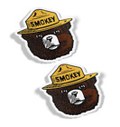 Smokey The Bear Firefighting Wildfire Decals, Stickers, (2 Items), Quality 3m