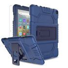 For Amazon Fire HD 8 2020/10th Gen/8 Plus Kickstand Tablet Case,Screen Protector