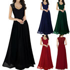 Women Ladies Lace Prom Wedding Bridesmaids Maxi Evening Formal Xmas Party Dress