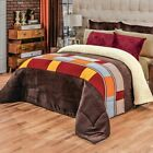 Multicolor Puebla Flannel Price Sherpa Blanket with Thick Soft Wadding