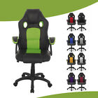 Executive Racing Gaming Computer Office Chair Adjustable Swivel ReclinerLeather