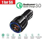 2 Port USB QC 3.0 Fast Car Charger for iPhone Samsung Android Cell Phone LG HTC