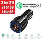 2 Port USB QC 3.0 Fast Car Charger for Samsung iPhone Android Cell Phone LG HTC