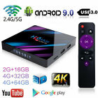 H96 Max Android 9.0 Smart TV Box 16/32G Quad Core 4K HD 5.8GHz WiFi Media Player