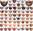 Funny Washable Facemask Half Face Mouth Mark HipHop Cospaly Party One Size Bib