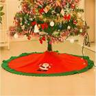 Handcraft Tree Skirt Christmas Decor Home Accessories Soft Non-woven Xmas Party