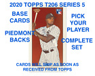 2020 Topps T206 Series Wave 5 (Cards 1-50) BASE & PIEDMONT BACK PICK PLAYERBaseball Cards - 213