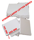 ROYAL MAIL WHITE LARGE LETTER CARDBOARD POSTAL BOXES 260MM X 185 MM X 23 MM