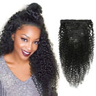8pcs Clip in Afro Curly Virgin Hair Weft 100 Human Hair Extensions Weaves 120g