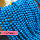 "AAA Natural Rarest Sleeping Beauty Turquoise Round Beads 15"" strand 2mm-10mm"