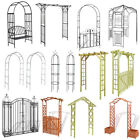 Rose Arch Metal Wood Trellis Climbing Plants Flowers Archway Outdoor Gateway New